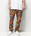LRG Recruit pantalones cargo de camuflaje caqui y naranja