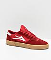 Lakai Cambridge Red & Gum Skate Shoes