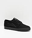 Lakai Griffin All Black Skate Shoes