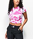 Lunachix Masie camiseta corta fucsia con cuello simulado