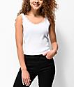 Lunachix camiseta blanca sin mangas de encaje