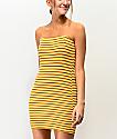 Lunachix vestido amarillo de rayas