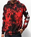 Lurking Class by Sketchy Tank Branch Logo Red Tie Dye Hoodie