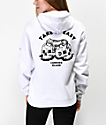 Lurking Class by Sketchy Tank Catnap Take It Easy sudadera con capucha blanca