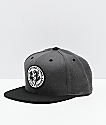 Lurking Class by Sketchy Tank Goes Around Grey & Black Snapback Hat