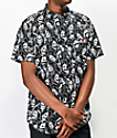 Lurking Class by Sketchy Tank Reaper Woven Black Short Sleeve Button Up Shirt