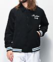 Members Only chaqueta con capucha de pana negra