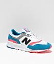 New Balance Lifestyle 997H Deep Ozone zapatos en azul, guayaba y blanco