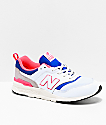 New Balance Lifestyle 997H White, Lazer Blue & Pink Shoes