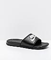 Nike Benassi White Logo Black Slide Sandals