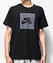 Nike SB Dri-Fit Logo camiseta negra de cambray