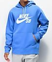 Nike SB Icon Pacific sudadera con capucha azul