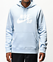 Nike SB Icon sudadera con capucha azul claro