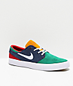 Nike SB Janoski RM Obsidian zapatos de skate verdes y blancos