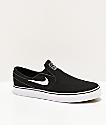 Nike SB Janoski Slip-On Black & White Skate Shoes