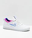 Nike SB Nyjah Free 2.0 White Skate Shoes