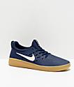 Nike SB Nyjah zapatos de skate en azul y goma