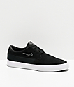 Nike SB Shane Black & White Skate Shoes