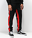 Ninth Hall Korberg Black & Red Track Pants