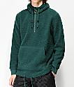 Ninth Hall Summit Green Sherpa Half-Zip Sweatshirt