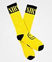Nirvana Smile Face Yellow Crew Socks