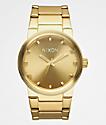 Nixon Cannon reloj analógico en color oro