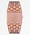 Nixon Ticket reloj analógico oro rosa