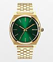 Nixon Time Teller Gold & Green Analog Watch