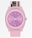 Nixon Time Teller Invisible reloj analógico rosa
