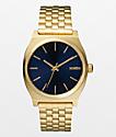 Nixon Time Teller Light Gold & Cobalt Analog Watch