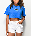 Obey 1990 Stars Blue Crop T-Shirt