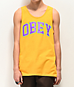 Obey Academic camiseta dorada sin mangas