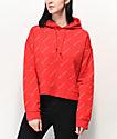 Obey All Over Print sudadera con capucha roja