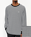 Obey Apex Black & White Stripe Knit Long Sleeve T-Shirt