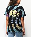 Obey Bumper camiseta tie dye negra y arcoiris