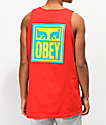 Obey Eyes Icon Red Tank Top