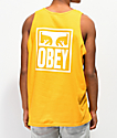 Obey Eyes Icon camiseta dorada sin mangas