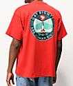 Obey Fire Island camiseta roja