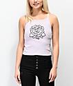Obey Mira Rosa Ava camiseta orquídea sin mangas