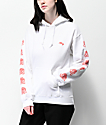 Obey Mira Rosa White & Red Hoodie