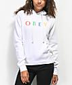 Obey Multicolor Novel sudadera con capucha blanca