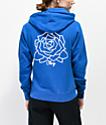 Obey Olde Rose sudadera azul con capucha