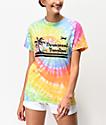 Obey Permanent Vacation camiseta tie dye multicolor