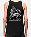 Obey Scorpion Rose camiseta negra sin mangas