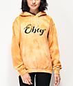 Obey Starry Script sudadera con capucha de tie dye dorado