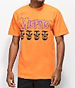 Obey x Misfits Fiend Skull camiseta naranja
