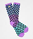 Odd Future Checkered Black, Purple & Green Crew Socks