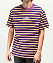 Odd Future Purple, Blue & Yellow Striped T-Shirt