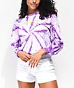 Odd Future Purple Tie Dye Long Sleeve T-Shirt