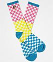 Odd Future calcetines de cuadros multicolor